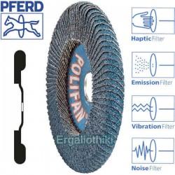 PFERD POLIFAN CURVE Φ115mm SGP-ZIRGON Δίσκος γυαλόχαρτου γωνιακού τροχού
