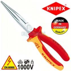 KNIPEX 2616200 Μυτοτσίμπιδο ίσιο 200mm VDE 1000V