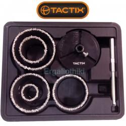 TACTIX 440537 Σειρά ποτηροτρύπανα πλακιδίων
