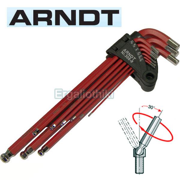 ARNDT 308-9 Σειρά κλειδιά allen ίντσας