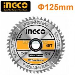 INGCO TSB112555 Δίσκος Γωνιακού Τροχού 125mm Κοπής Ξύλου