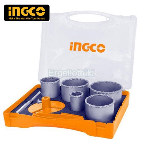 INGCO AKCH0071 Σειρά ποτηροτρύπανα δομικών υλικών