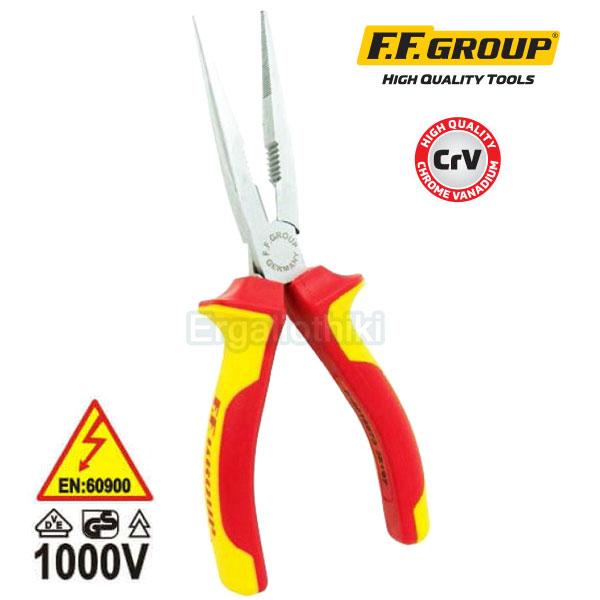 FFGROUP 38197 Μυτοτσίμπιδο ηλεκτρολόγων ίσιο 200mm VDE 1000V