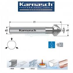 KARNASCH HSS-XE Φρέζες μετάλλων 90° DIN 335