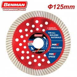 BENMAN TOOLS 74491 Διαμαντόδισκος 125mm CLEAN CUT UNIVERSAL MAXPOWER