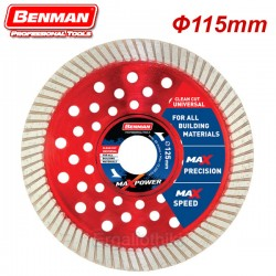 BENMAN TOOLS 74490 Διαμαντόδισκος 115mm CLEAN CUT UNIVERSAL MAXPOWER