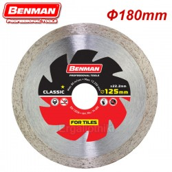 BENMAN TOOLS 74254 Διαμαντόδισκος 180mm πλακιδίων