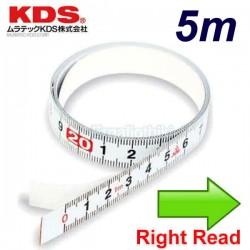 KDS ST13-05 Μεζούρα αυτοκόλλητη 5m δεξιάς ανάγνωσης
