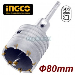 INGCO HCB0801 Διαμαντοκορώνα Μπετού SDS-plus 80mm