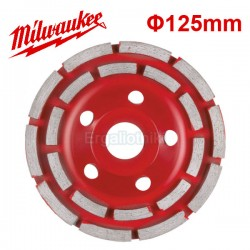 MILWAUKEE DCWU 125 Λειαντικός δίσκος εμφανή μπετού Φ125mm