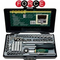 FORCE TOOLS 2571 Σειρά καρυδάκια 1/4""