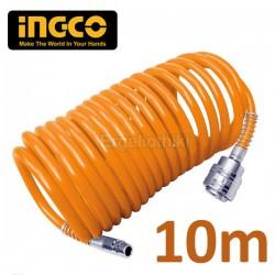 INGCO AH1101 Σπιράλ αέρος 10m με ταχυσυνδέσμους