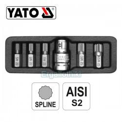 YATO YT-0414 Σειρά μύτες πολύσφινες (SPLINE)