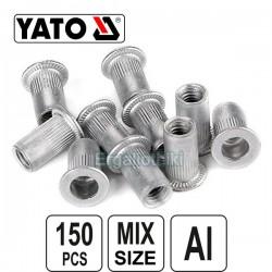 YATO YT-36460 Σετ πριτσινοπαξιμάδια αλουμινίου Μ3-Μ10