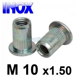 Πριτσίνι σπειρώματος INOX Μ10x1.5