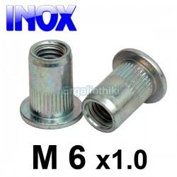 Πριτσίνι σπειρώματος INOX Μ6x1.0