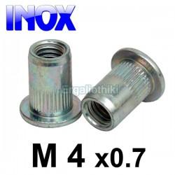 Πριτσίνι σπειρώματος INOX Μ4x0.7