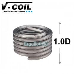 V COIL Σπειρώματα επισκευής 1.0D μετρικό σύστημα (επιλέγετε μέγεθος)