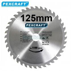 PEXCRAFT Δίσκος κοπής ξύλου Φ125 (για γωνιακό τροχό)