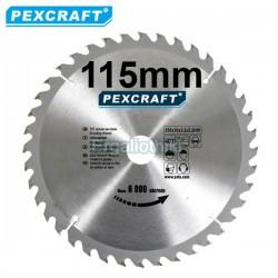 PEXCRAFT Δίσκος κοπής ξύλου Φ115 (για γωνιακό τροχό)