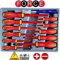 FORCE TOOLS 2125N Σειρά κατσαβίδια ηλεκτρολόγων με μόνωση 1000V