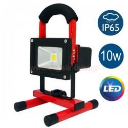 Φορητός επαναφορτιζόμενος προβολέας LED 10W