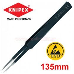 KNIPEX 922872 ESD Τσιμπίδα ακριβείας ίσια 135mm