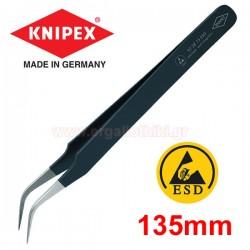 KNIPEX 923875 ESD Τσιμπίδα ακριβείας κυρτή 120mm