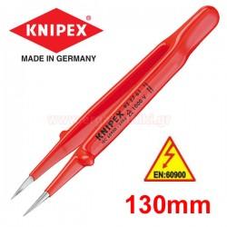 KNIPEX 922761 Τσιμπίδα ακριβείας 1000V ίσια 130mm