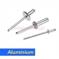 Πριτσίνια αλουμινίου (100 τεμάχια) επιλέγετε μέγεθος