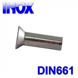 Πριτσίνια ανοξείδωτα μασίφ φρεζάτα DIN 661 (100 τεμάχια)