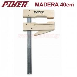 PIHER MADERA 40 Σφικτήρας με ξύλινες σιαγόνες