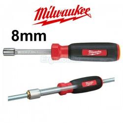 MILWAUKEE 48-22-2535 Hollow core Mαγνητικό κατσαβίδι καρυδάκι 8mm
