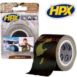 HPX Camo Tape Αυτοκόλλητη υφασμάτινη ταινία παραλαγής 48mm x 5m