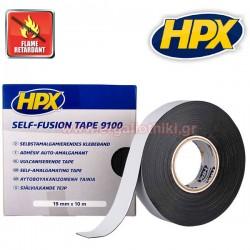 HPX 9100 Self Fusion Tape Αυτοβουλκανιζόμενη ταινία μαύρη 19mm x 10m