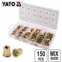 YATO YT-36481 Σετ πριτσινοπαξιμάδια σιδήρου Μ3-Μ10