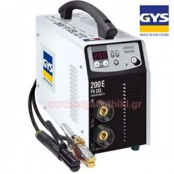 PROGYS 200E FV CEL Ηλεκτροκόλληση inverter 10-200A κατάλληλη και για TIG