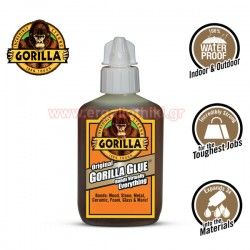 GORILLA GLUE 60ml Κόλλα πολυουρεθάνης αδιάβροχη γενικής χρήσης (1044202)