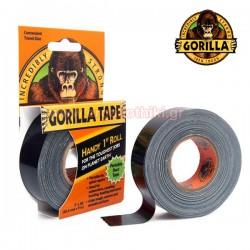 GORILLA TAPE 25mm x 9m Αυτοκόλλητη ταινία υφασμάτινη μαύρη (3044401)