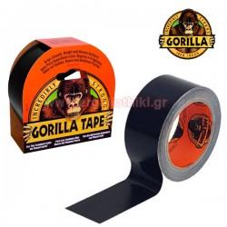 GORILLA TAPE 48mm x 11m Αυτοκόλλητη ταινία υφασμάτινη μαύρη (3044001)
