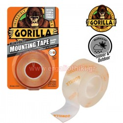 GORILLA MOUNTING TAPE Ταινία διπλής όψης διάφανη 25.4mm x 1.52m (3044101)