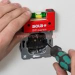 SOLA GO magnetic clip Αλφάδι τσέπης μαγνητικό με θήκη ζώνης