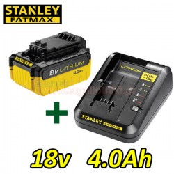 STANLEY FATMAX FMC692L Φορτιστής μπαταριών λιθίου + FMC688L Μπαταρία λιθίου 18V 4.0Ah