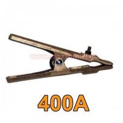 Τσιμπίδα γείωσης ηλεκτροκόλλησης ορειχάλκινη 400Amp