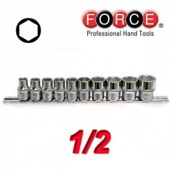 FORCE TOOLS 4106 Σειρά καρυδάκια εξάγωνα 1/2.