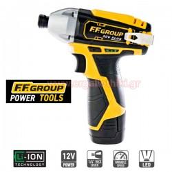 FFGROUP CID12V/80 PLUS Παλμικό κατσαβίδι μπαταρίας με μπαταρία και φορτιστή (41308, 41310, 41311)