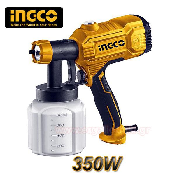 INGCO SPG 3508 Πιστόλι βαφής ηλεκτρικό 350W
