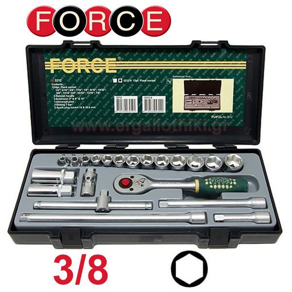 FORCE TOOLS 3212 Σειρά καρυδάκια 3/8 ίντσες