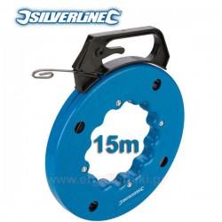 SILVERLINE 868726 Ατσαλίνα ηλεκτρολόγου 15m