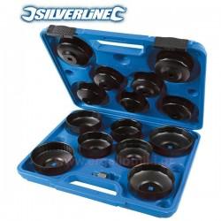 SILVERLINE 952159 Σειρά Φιλτρόκλειδα καμπάνα 15 τεμ 65-93mm
